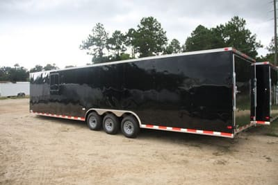 8.5' X 34' RollingVault Triple Axle V Nose Car Hauler