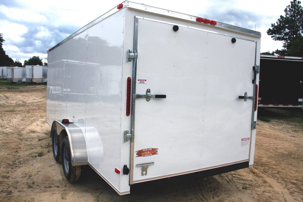 7x14 And 7x16 Tandem Axle Budget Enclosed Cargo Trailer Plain Ol 39 Trailers