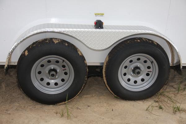 Cargo Trailer Fenders : Wide rolling vault tandem axle cargo trailer plain ol