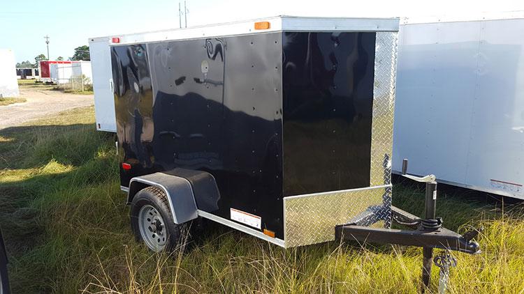 4' x 6' V Nose Single Axle Diamond Cargo Trailer