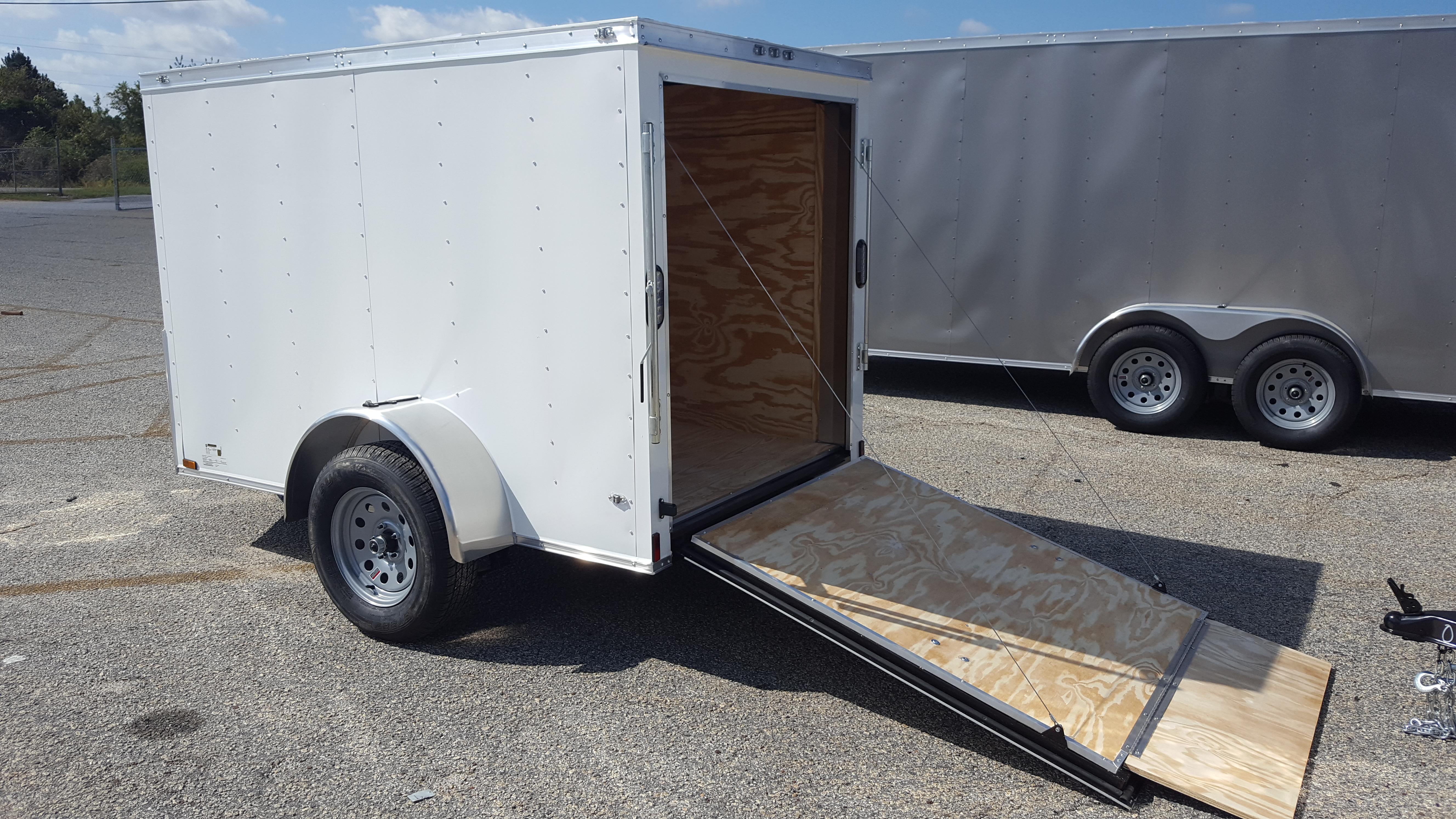 5' x 8' V Nose Anvil Cargo Trailer